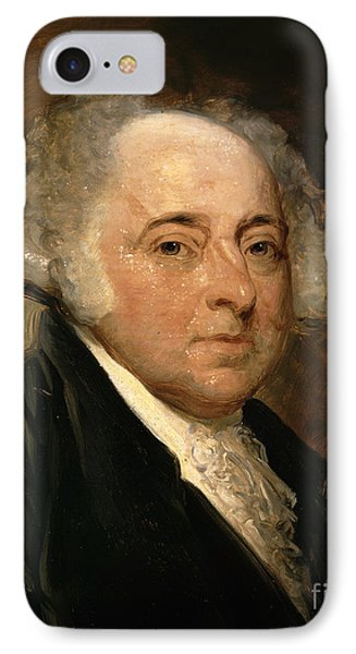 Portrait Of John Adams IPhone Case by Gilbert Stuart