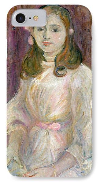 Portrait Of Julie Manet Phone Case by Berthe Morisot