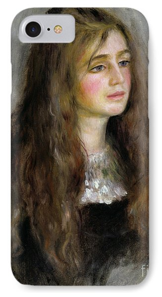 Portrait Of Julie Manet  Phone Case by Pierre Auguste Renoir