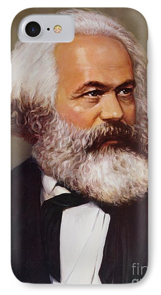 Portrait Of Karl Marx IPhone Case by Unknown