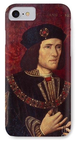 Portrait Of King Richard IIi IPhone Case by English School