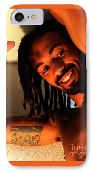 Portrait Of Lamont IPhone Case by Robert D McBain
