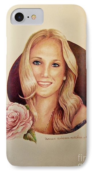 IPhone Case featuring the painting Portrait Of Lauren by Patricia Schneider Mitchell