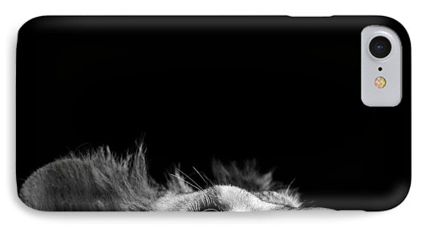Lion iPhone 7 Case - Portrait Of Lion In Black And White IIi by Lukas Holas
