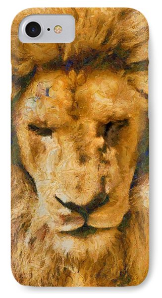 IPhone Case featuring the photograph Portrait Of Lion by Scott Carruthers