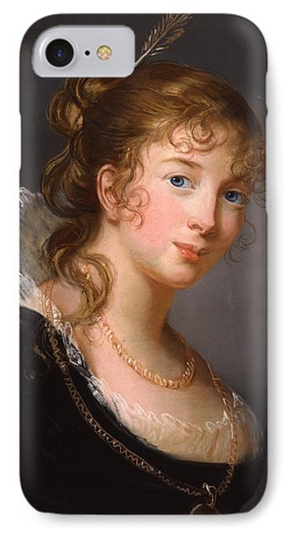 Portrait Of Louisa Princess Radziwill  IPhone Case by Elisabeth Louise Vigee-Lebrun
