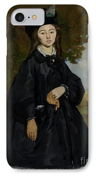 Portrait Of Madame Brunet By Edouard Manet  IPhone Case by Esoterica Art Agency