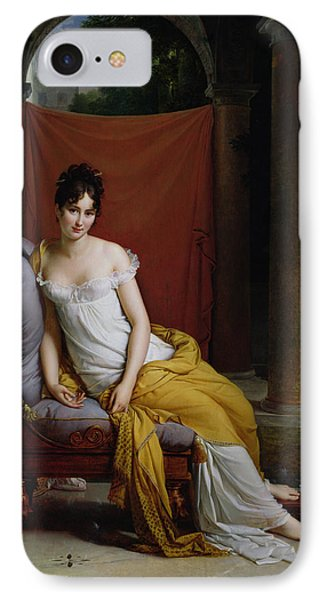 Portrait Of Madame Recamier Phone Case by Francois Pascal Simon Gerard