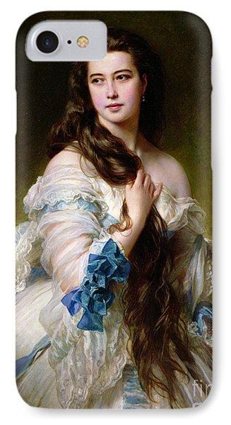 Portrait Of Madame Rimsky Korsakov IPhone Case by Franz Xaver Winterhalter