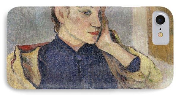Portrait Of Madeleine Bernard IPhone Case by Paul Gauguin