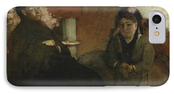Portrait Of Mademoiselle Lisle And Mademoiselle Loubens IPhone Case by Edgar Degas
