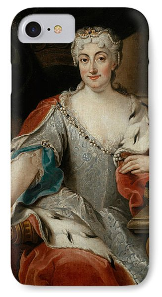 Portrait Of Maria Clementina Sobieska IPhone Case by Pier Leone Ghezzi