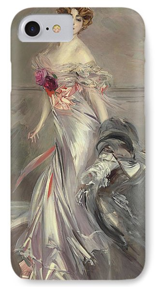 Boa Constrictor iPhone 7 Case - Portrait Of Marthe Regnier by Giovanni Boldini