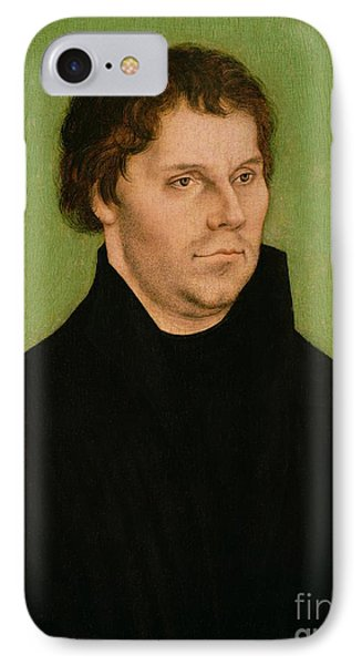 Portrait Of Martin Luther Phone Case by Lucas Cranach the Elder