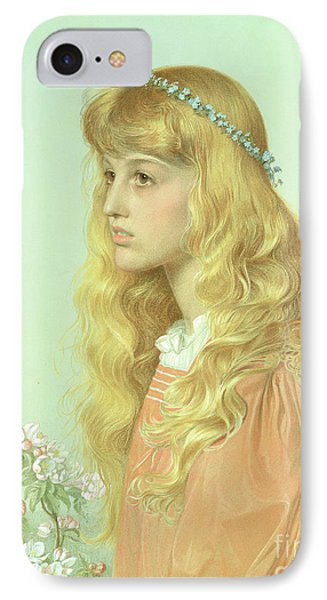 Portrait Of Miss Adele Donaldson, 1897 IPhone 7 Case by Anthony Frederick Augustus Sandys