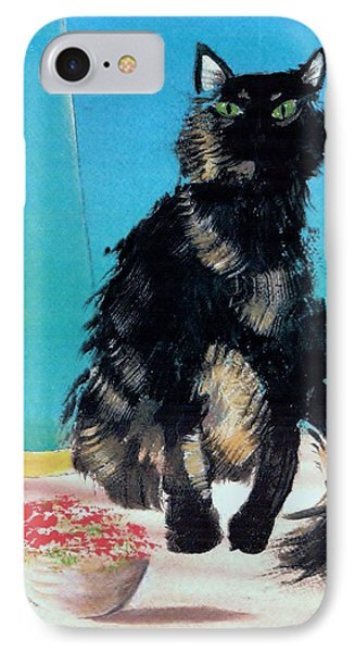 IPhone Case featuring the painting Portrait Of Muffin by Denise Fulmer