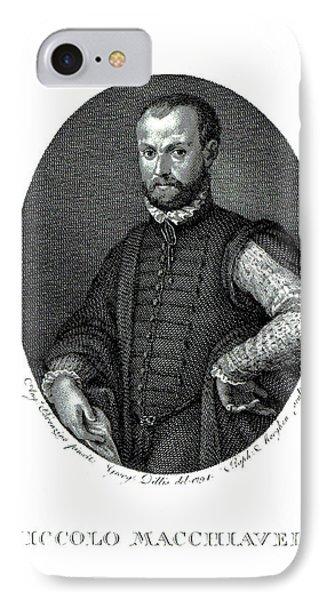 Portrait Of Niccolo Machiavelli  IPhone Case by Agnolo Bronzino