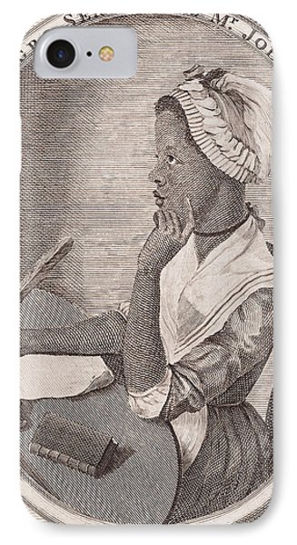 Portrait Of Phillis Wheatley IPhone Case by American School