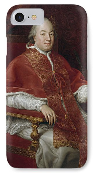 Portrait Of Pope Pius Vi, Giovanni Angelo Braschi IPhone Case
