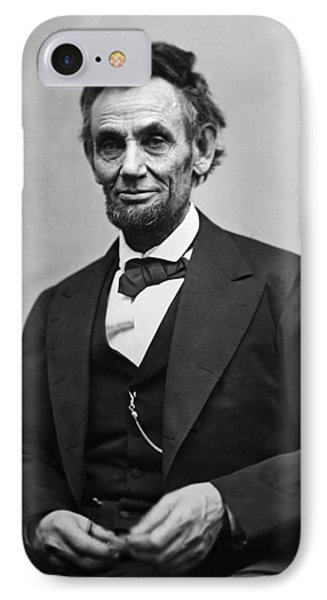 Portrait Of President Abraham Lincoln IPhone Case by International  Images