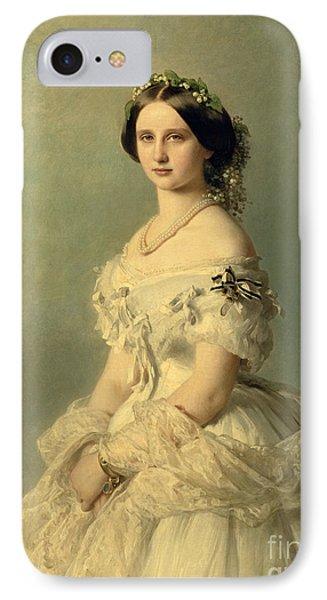 Portrait Of Princess Of Baden IPhone Case by Franz Xaver Winterhalter