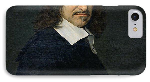 Portrait Of Rene Descartes IPhone Case by Frans Hals
