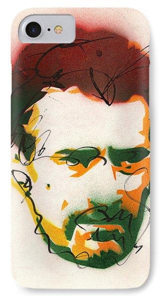 Portrait Of Robert Deniro IPhone Case by Ryan  Hopkins