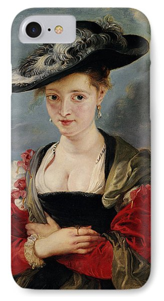 Portrait Of Susanna Lunden Phone Case by Peter Paul Rubens