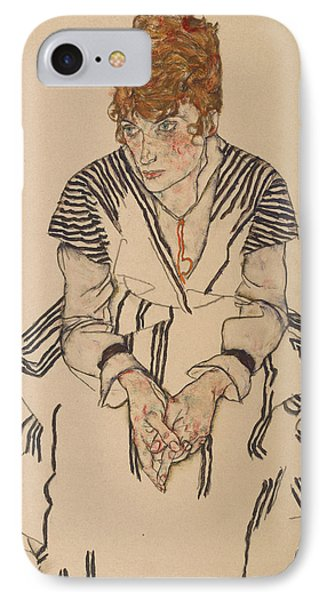 Portrait Of The Artist's Sister-in-law, Adele Harms IPhone Case by Egon Schiele