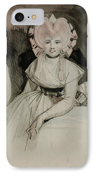Portrait Of The Artist's Wife IPhone Case by Henry Fuseli
