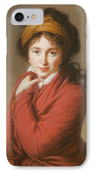 Portrait Of The Countess Nikolai Nikolaevich Golovin IPhone Case by Elisabeth Louise Vigee-Lebrun