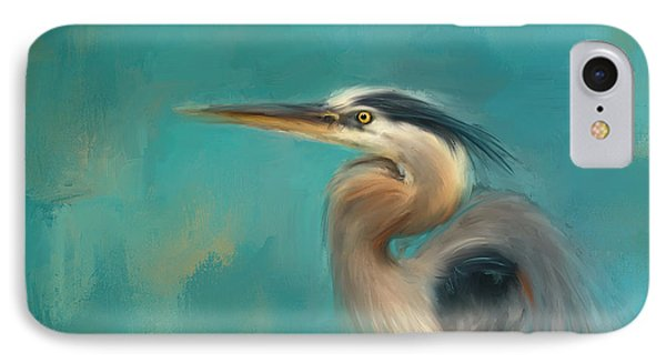 Portrait Of The Heron IPhone Case by Jai Johnson