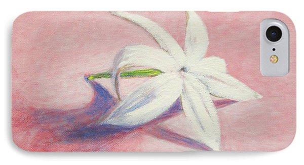 Portrait Of The Jasmine Flower Phone Case by Usha Shantharam