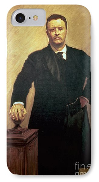 Portrait Of Theodore Roosevelt IPhone Case by John Singer Sargent