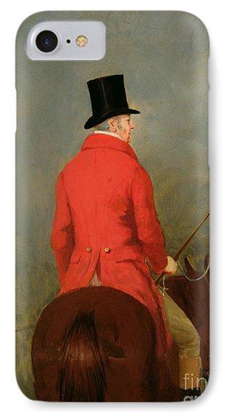 Portrait Of Thomas Cholmondeley IPhone Case by Henry Calvert