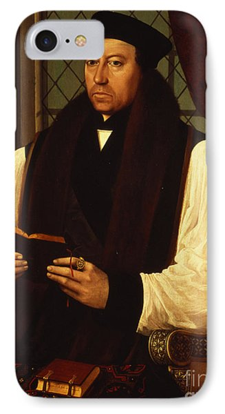 Portrait Of Thomas Cranmer IPhone Case by Gerlach Flicke
