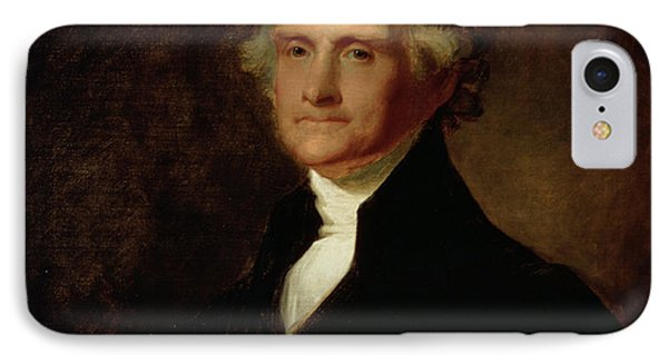 Portrait Of Thomas Jefferson IPhone Case by Asher Brown Durand