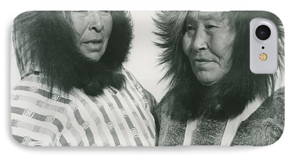 Portrait Of Two Indigenous Women IPhone Case by Celestial Images