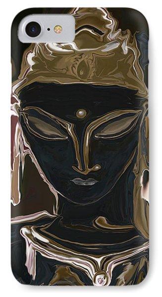 IPhone Case featuring the digital art Portrait Of Vajrasattva by Rabi Khan