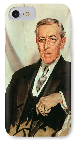 Portrait Of Woodrow Wilson IPhone Case by Sir William Orpen