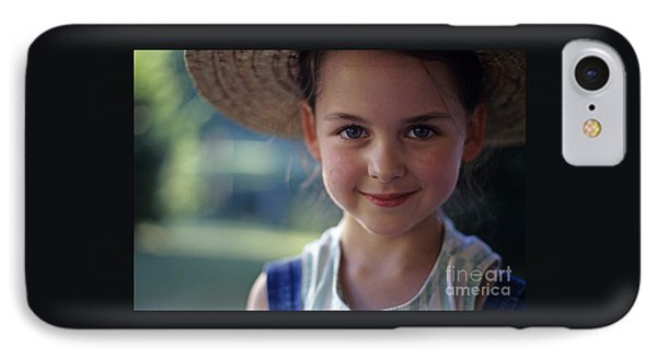 Portrait Of Young Girl IPhone Case