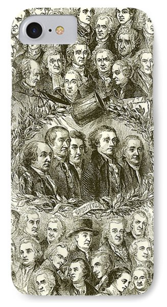 Portraits Of The Signers Of The Declaration Of Independence IPhone Case