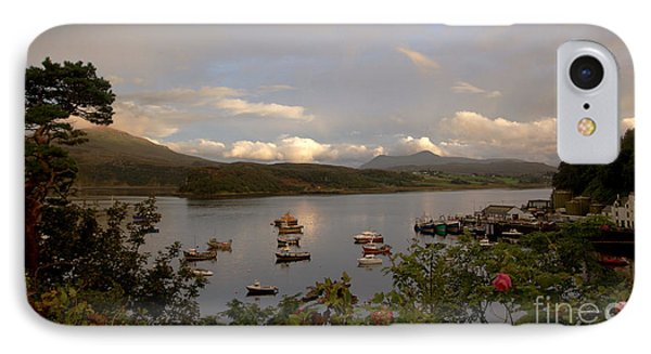 Portree Isle Of Sky IPhone Case by Louise Fahy
