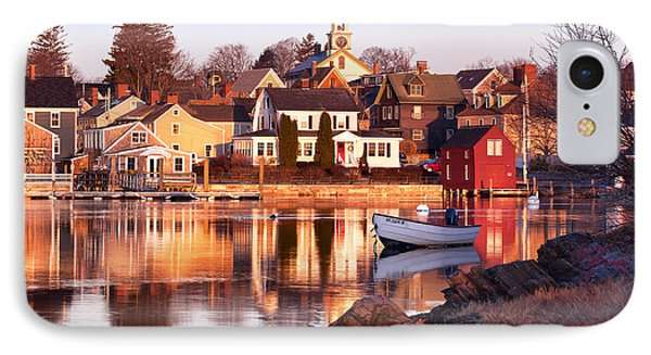 Portsmouth Golden Light IPhone Case by Eric Gendron