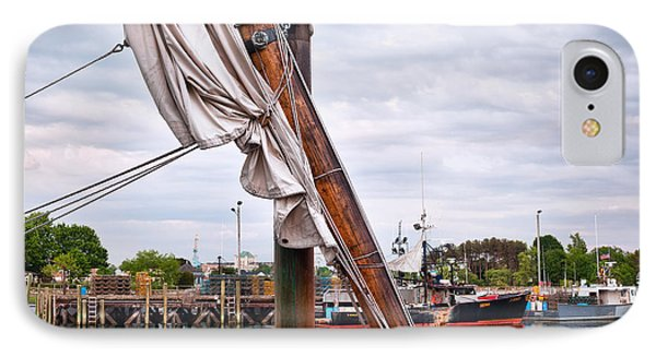 Portsmouth Gundalow Sail IPhone Case by Eric Gendron