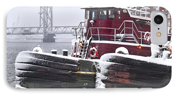Portsmouth Tugs In A Blizzard IPhone Case
