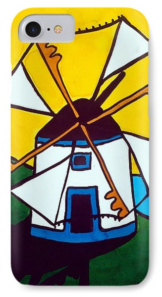 IPhone Case featuring the painting Portuguese Singing Windmill By Dora Hathazi Mendes by Dora Hathazi Mendes