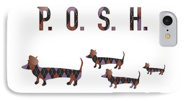 Posh Dachshunds IPhone Case by Beverley Brown