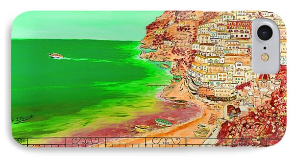 IPhone Case featuring the painting Positano Bay by Loredana Messina