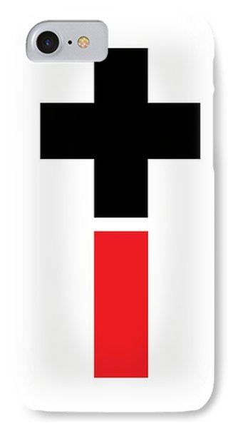 Positive And Negative Cross IPhone Case by Marianna Mills